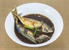 Mackerel fish boiled Royalty Free Stock Photography