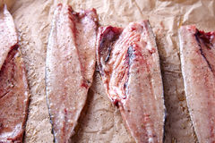 Mackerel fish fillets with spices Stock Photo