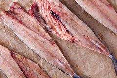 Mackerel fish fillets with spices Royalty Free Stock Images