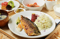 Mackerel fish meal Stock Photo