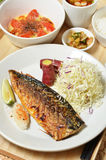 Mackerel fish meal Stock Image