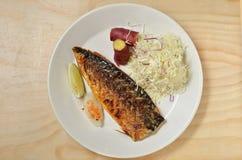 Mackerel fish meal Royalty Free Stock Photography