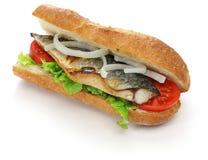 Mackerel fish sandwich,turkish food Stock Image
