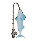 Mackerel fish sea life fishing rod Royalty Free Stock Images