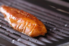Mackerel on a grill A Stock Photos