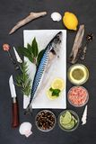 Mackerel Health Food Royalty Free Stock Images