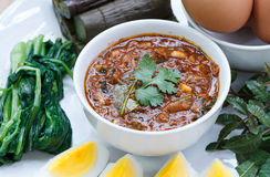 Mackerel In Tomato Sauce Chilli Dip With Lemon Grass,kaffir Lime Royalty Free Stock Images