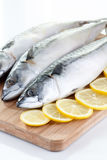 Mackerel with lemon Stock Photos