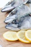 Mackerel with lemon Stock Photography