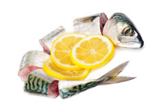 Mackerel and lemon Royalty Free Stock Photo