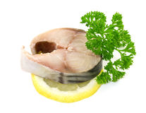 Mackerel with lemon Royalty Free Stock Image