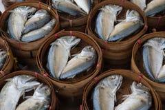 Mackerel in market. Thai packaging mackerel in a market Royalty Free Stock Images