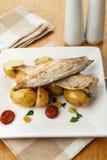 Mackerel meal Stock Photography
