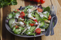 Mackerel salad Royalty Free Stock Image