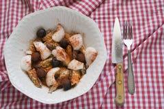 Mackerel salad Stock Photos