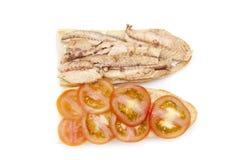 Mackerel sandwich bocadillo de caballa Stock Photo