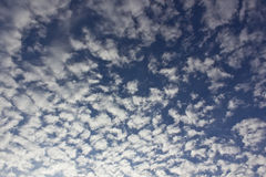 Mackerel sky - Cirrocumulus clouds Stock Photo