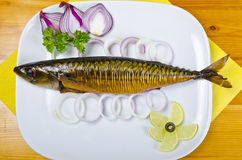 Mackerel smoked royalty free stock photography