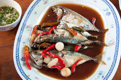 Mackerel soak in syrup Stock Images