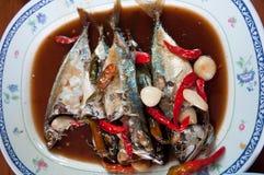 Mackerel soak in syrup Stock Image