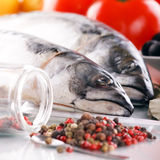 Mackerel with spice Stock Photography