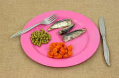 Mackerel and vegetables Royalty Free Stock Photography