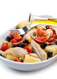 Mackerels with potatoes,tomatoes,capers Stock Images