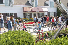 Mackiinac Island, Michigan, Bikes, Bikes, Bikes Royalty Free Stock Photo