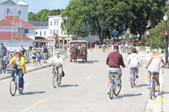 Mackinac Island, Michigan, Bikes, Bikes, Bikes Stock Photo