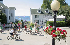Mackinac Island, Michigan, Bikes, Bikes, Bikes Stock Images