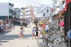 Mackiinac Island, Michigan, Bikes, Bikes, Bikes royalty free stock photos