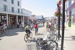 Mackiinac Island, Michigan, Bikes, Bikes, Bikes Stock Photos