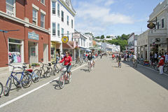 Mackiinac Island, Michigan, Bikes, Bikes, Bikes Stock Photos