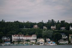 Mackinac海岛美好的风景 美国 免版税库存照片