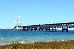 Mackinac Brücke in Michigan Lizenzfreie Stockfotos