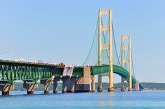 Mackinac-Brückennahaufnahme stockbild