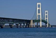 Mackinac Bridge. Mackinac suspension bridge spanning Straits of Mackinac, Michigan, U.S.A Royalty Free Stock Photos
