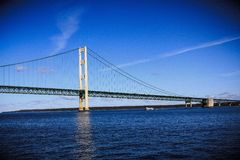 Mackinac Bridge. On a Beautiful Summer Day Royalty Free Stock Image