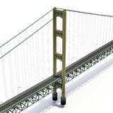 Mackinac Bridge Isolated on white. 3D illustration. Mackinac Bridge Isolated on white background. 3D illustration Royalty Free Stock Photo