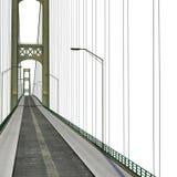 Mackinac Bridge Isolated on white. 3D illustration. Mackinac Bridge Isolated on white background. 3D illustration Royalty Free Stock Photography