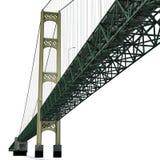 Mackinac Bridge Isolated on white. 3D illustration. Mackinac Bridge Isolated on white background. 3D illustration Royalty Free Stock Images