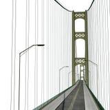 Mackinac Bridge Isolated on white. 3D illustration. Mackinac Bridge Isolated on white background. 3D illustration Stock Images