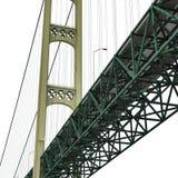 Mackinac Bridge Isolated on white. 3D illustration. Mackinac Bridge Isolated on white background. 3D illustration Stock Photo