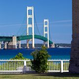 Mackinac Bridge, Mackinaw City Michigan Royalty Free Stock Image