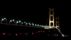 Mackinac Bridge, Mackinaw City Michigan Stock Photo