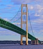 Mackinac Bridge, Mackinaw City Michigan Stock Image