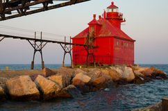 Sturgeon Bay Ship Canal Pierhead Lighthouse stock images