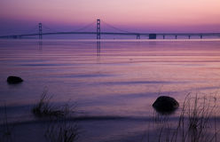 Mackinac Bridge in Michigan Royalty Free Stock Images