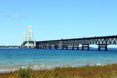 Mackinac Bridge in Michigan Royalty Free Stock Photos