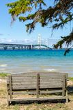 Mackinac Bridge in Northern Michigan, USA stock image